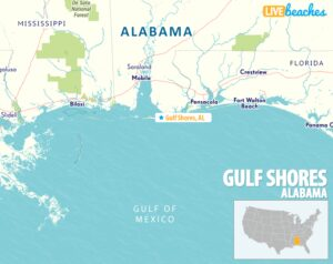 Map of Gulf Shores, Alabama - Live Beaches.com