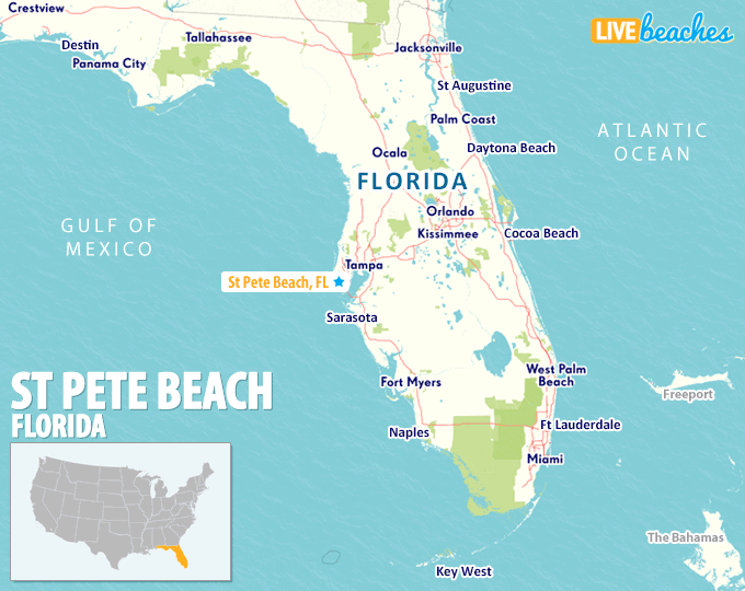 St. Petersburg Florida Map Map of St Pete Beach, Florida   Live Beaches