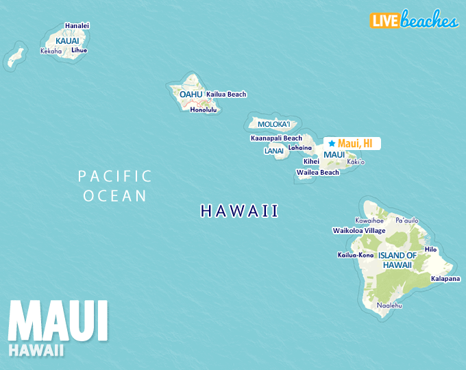 Hawaii Map Maui.Map Of Maui Hawaii Live Beaches