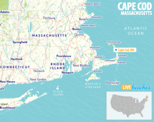 Map of Cape Cod, Massachusetts