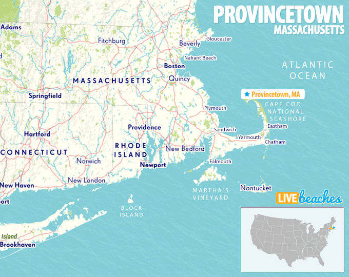 Map Of Provincetown Massachusetts Live Beaches - Massachusetts-on-the-us-map