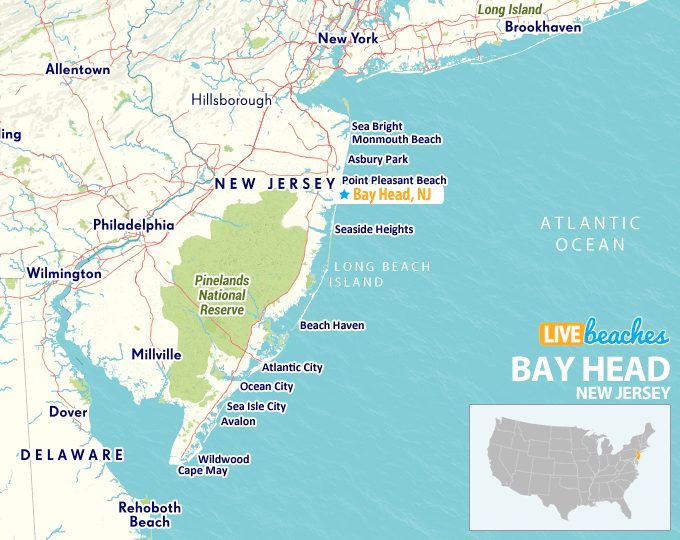 Map Of Bay Head New Jersey Live Beaches