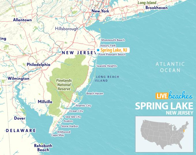 map of spring lake nj Map Of Spring Lake Beach New Jersey Live Beaches map of spring lake nj