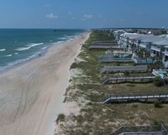 Aerial Tour of Kure Beach NC