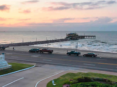 Galveston Seawall Live Cam Beaches