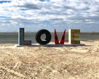 Love Sign Cape Charles, VA, Eastern Shore of VA