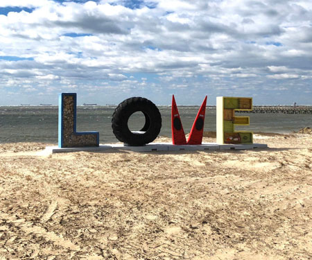 Love Sign Cape Charles, VA, Eastern Shore of VA