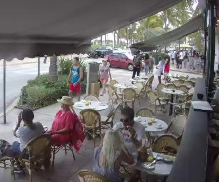 News Cafe Cam in South Beach Miami