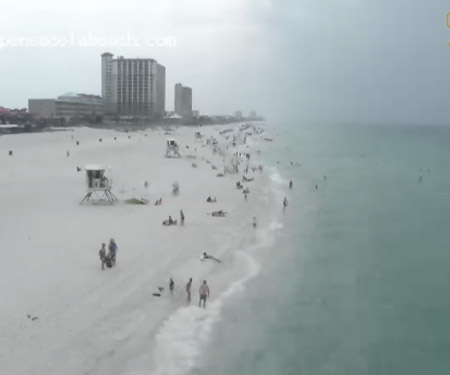 Pensacola Beach Webcam East View