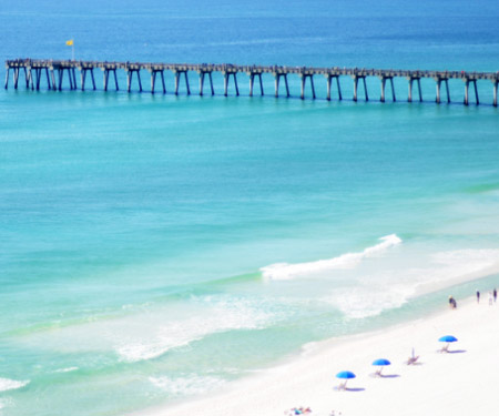 Pensacola Beach Webcam South View