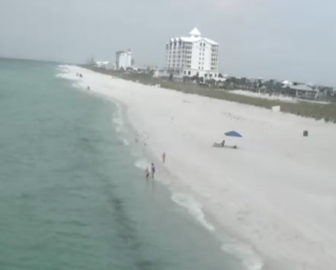 Pensacola Beach Webcam West View