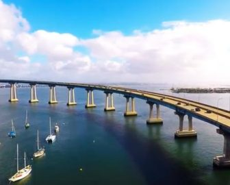 Aerial Tour of Coronado Bridge