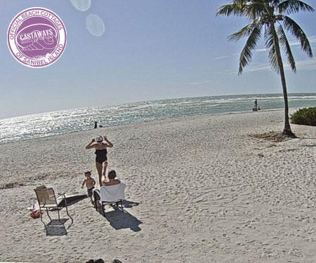 Castaways Cottages Beach Cam, Sanibel Island, FL