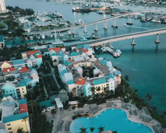 Aerial Tour of the Bahamas, Caribbean Islands, Resort Beach Vacation