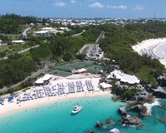 Aerial Tour of Bermuda, Caribbean Islands, Resort Beach Vacation