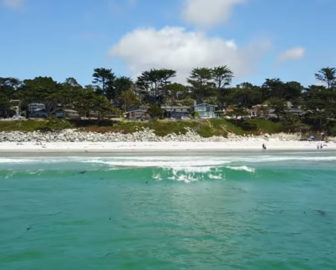 Aerial Tour of Carmel-by-the-Sea, CA