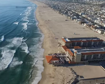 Aerial Tour of Hermosa Beach, CA