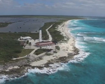 Aerial Tour of Cozumel, Caribbean Islands, Resort Beach Vacation