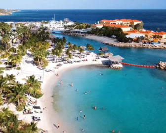 Aerial Tour of Curacao Resort Beach Vacation, Visit Caribbean Islands