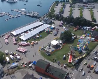 Aerial Tour of Rockland, ME