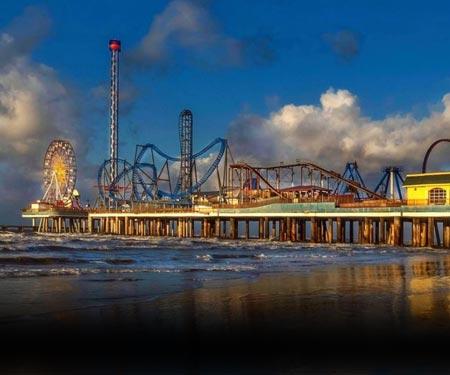 Galveston Island Pleasure Pier Cam