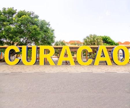 Curacao Sign Live Webcam Wilhelmina Park Resort Beach Vacation, Visit Caribbean Islands