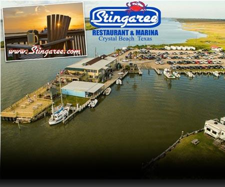Stingaree Restaurant and Marina Webcam, Bolivar Peninsula