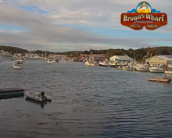 Brown's Wharf Restaurant Cove Webcam Boothbay Harbor, Maine
