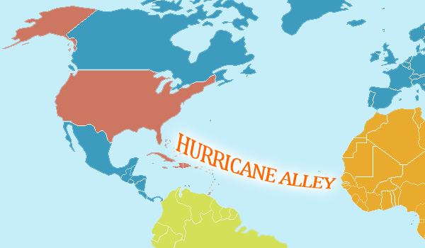 Hurricane Alley, Atlantic Ocean