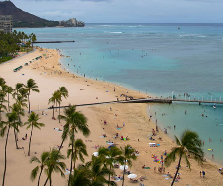 Hilton Hawaiian Village Waikiki Beach Resort Webcam, Honolulu, Hawaii