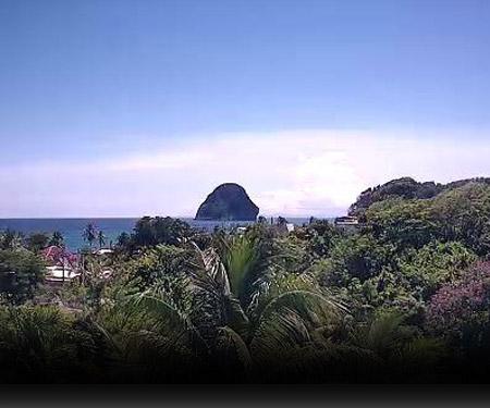 Martinique Webcam - Le rocher du Diamant