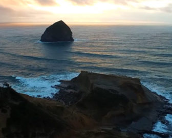 Aerial Tour of Cape Kiwanda in Pacific City