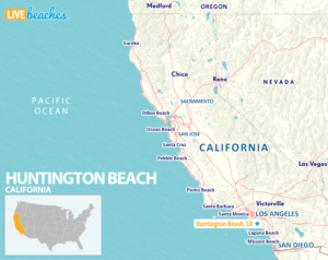Map of Huntington Beach California - LiveBeaches.com