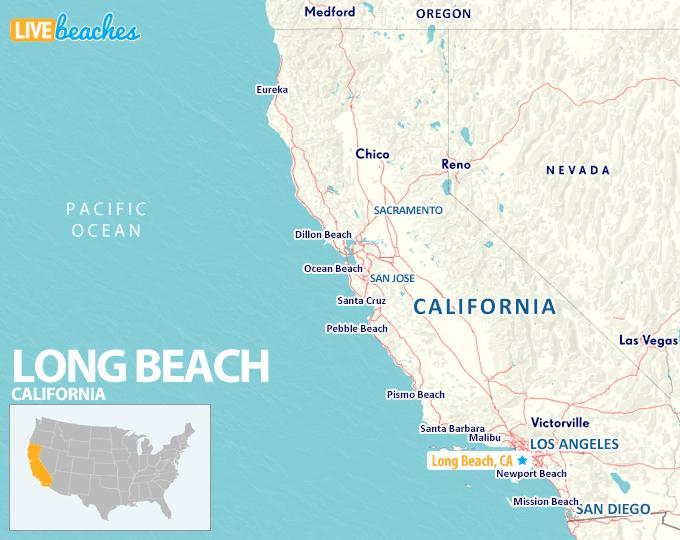 Map of Long Beach California - LiveBeaches.com
