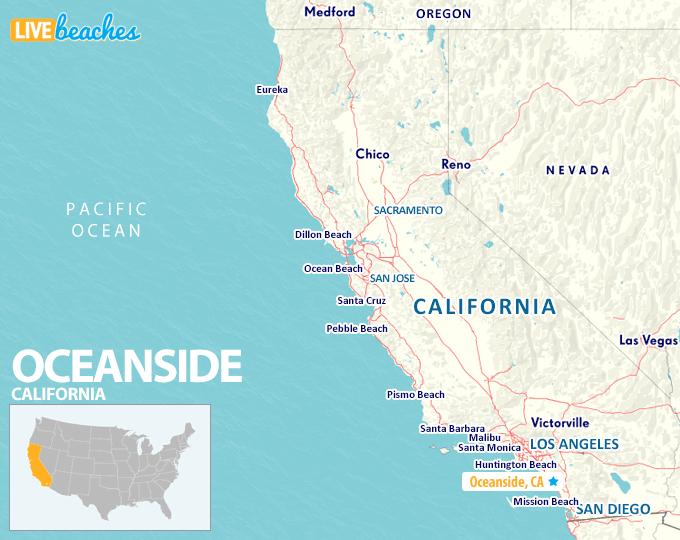 Map of Oceanside California - LiveBeaches.com