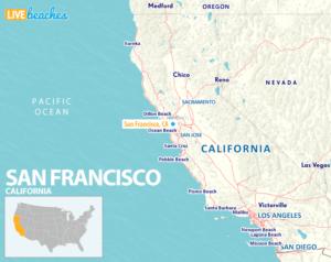 Map of San Francisco California - LiveBeaches.com