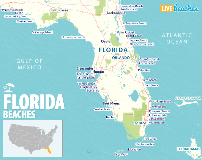 Map Of Florida Beaches Live