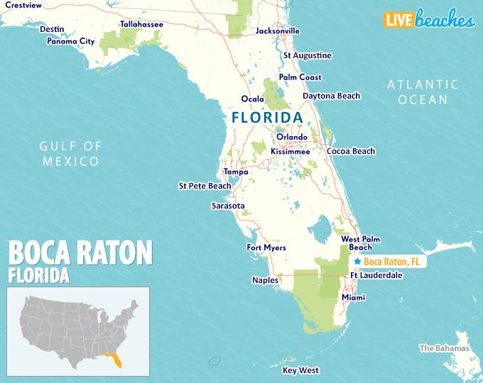 Where Is Boca Raton On The Florida Map Map of Boca Raton, Florida   Live Beaches