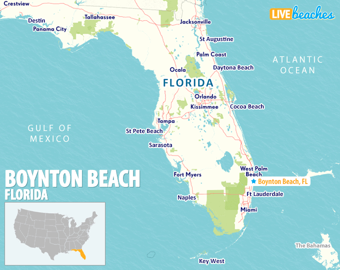 Boynton Beach Florida Map Map of Boynton Beach, Florida   Live Beaches