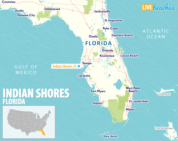 Indian Rocks Beach Florida Map Map of Indian Shores, Florida   Live Beaches