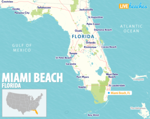 Map of Miami Beach Florida - LiveBeaches.com