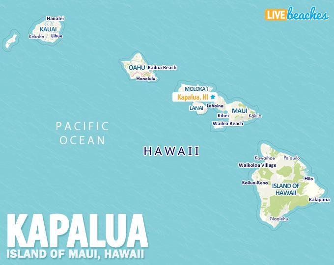 Map Of Kapalua Hawaii Live Beaches