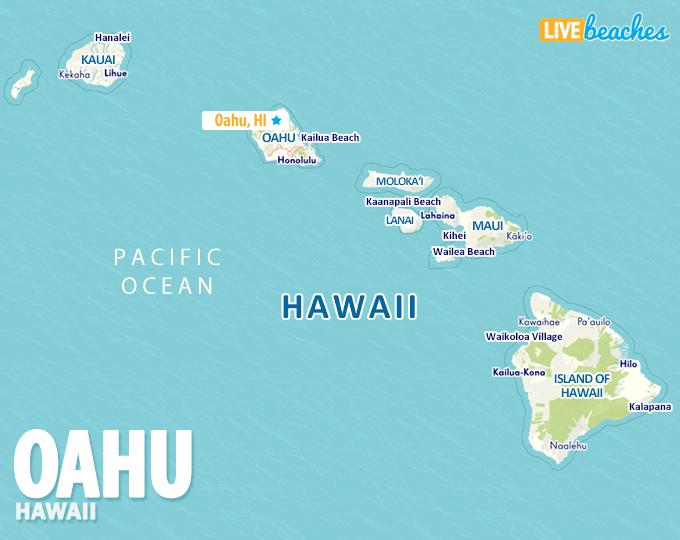 Map oahu hawaii Where is