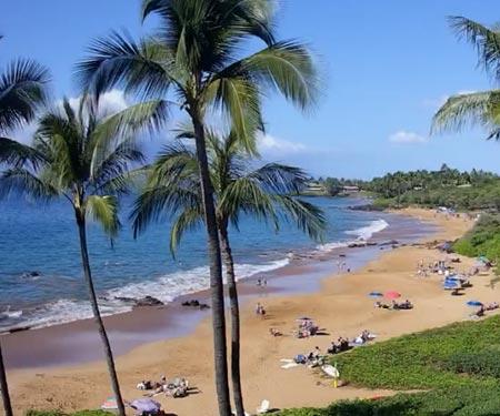 Makena Surf Resort Beach Cam, Maui HI