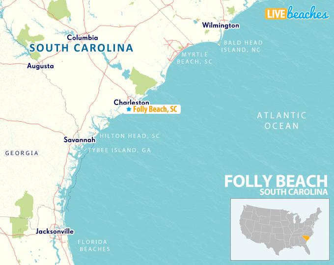 Map Of Folly Beach South Carolina