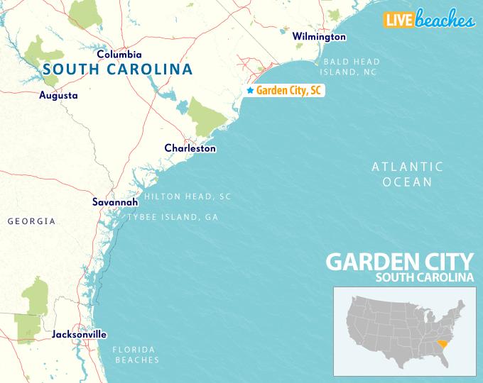 Map Of Garden City South Carolina Live Beaches