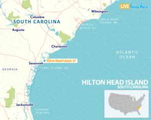Map of Hilton Head Island, South Carolina - LiveBeaches.com