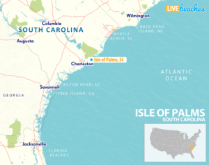 Map of Isle of Palms, South Carolina - LiveBeaches.com