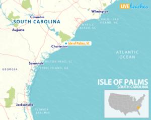 Map of Isle of Palms, South Carolina - LiveBeaches.com