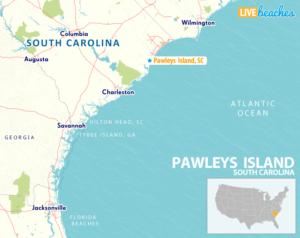 Map of Pawleys Island, South Carolina - LiveBeaches.com